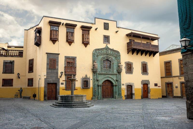 Casa de Columbus en Las Palmas Gran Canaria, España fotos de archivo libres de regalías