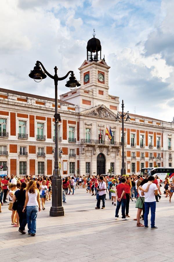 Casa De Correos In Puerta Del Sol Madrid Editorial