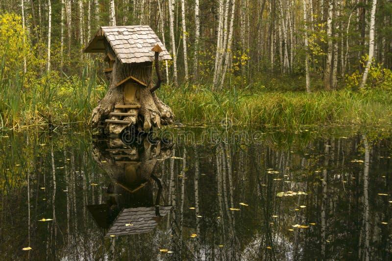 Casa de criaturas fabulosas en el pantano imágenes de archivo libres de regalías