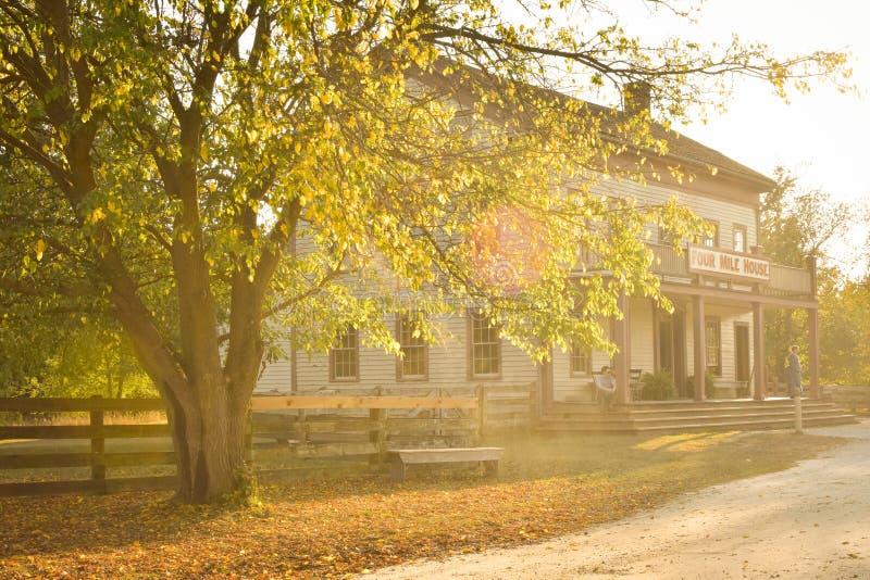Casa de cuatro millas - Viejo Mundo Wisconsin imagen de archivo libre de regalías