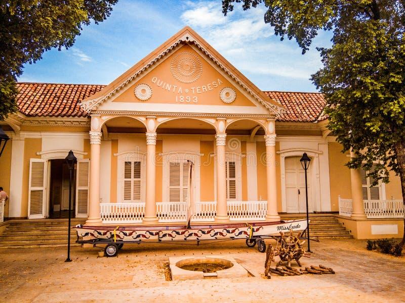 Casa de Cultura en Cucuta, Quinta Teresa imagen de archivo libre de regalías