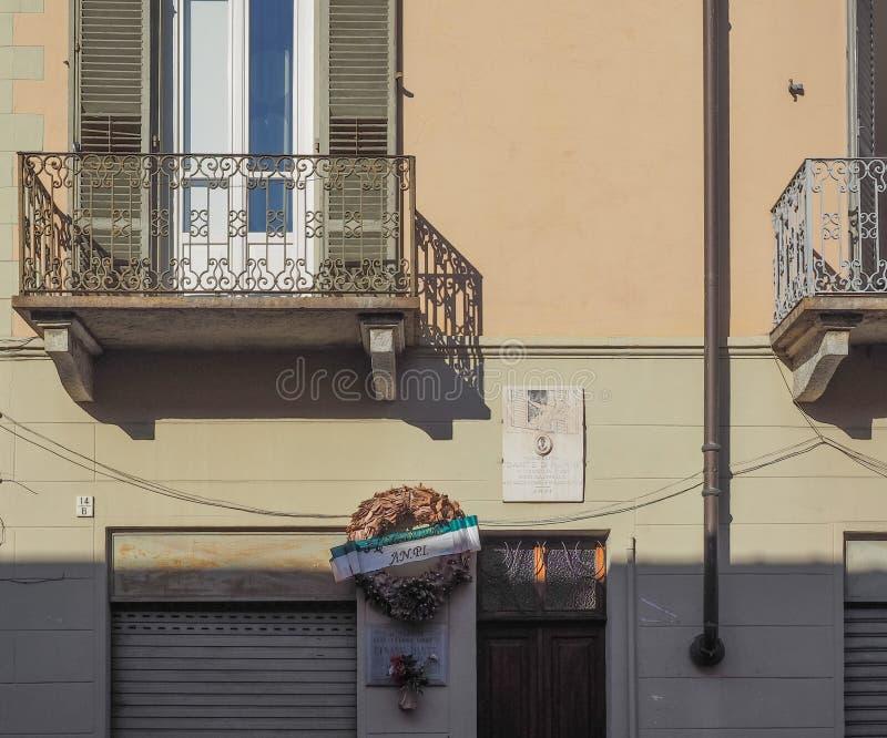 Casa de Dante di Nanni en Turín fotos de archivo libres de regalías