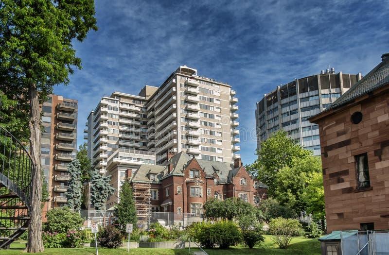Casa de Davis da cena da universidade de McGill fotos de stock