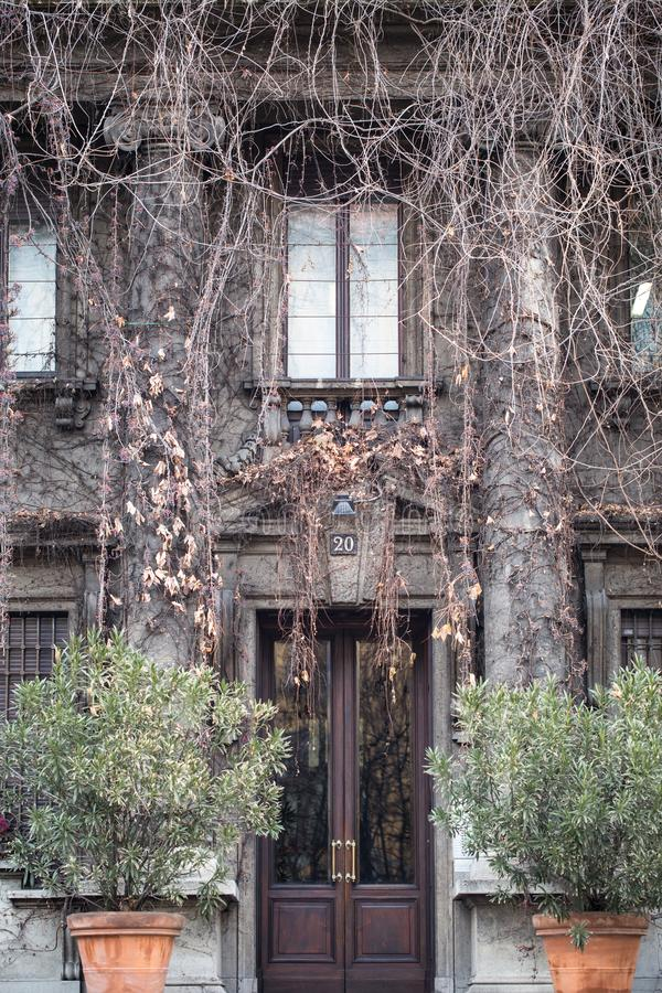 Casa de Donatella Versace en Milán fotografía de archivo