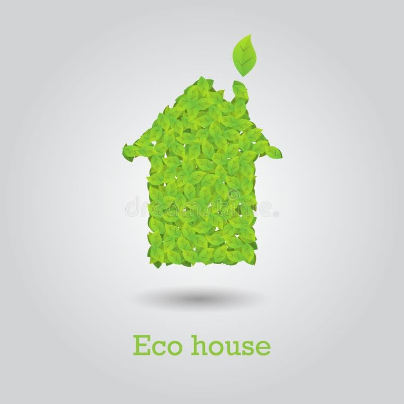 Casa de Eco feita das folhas verdes ilustração royalty free