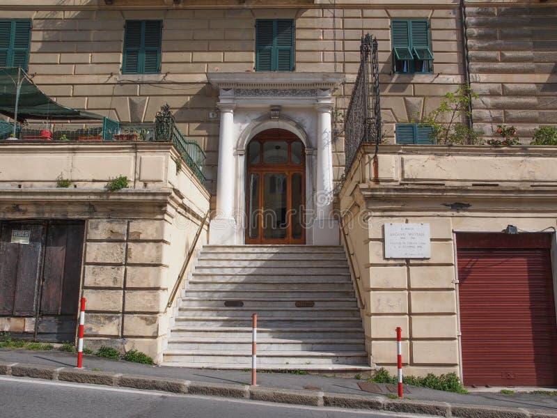 Casa de Eugenio Montale imagen de archivo