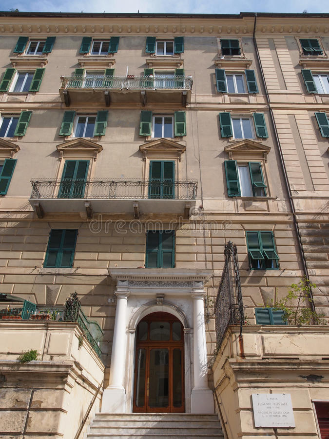 Casa de Eugenio Montale imagen de archivo libre de regalías