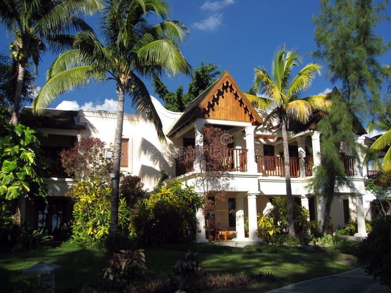 Casa de férias exótica em Maurícia imagem de stock royalty free