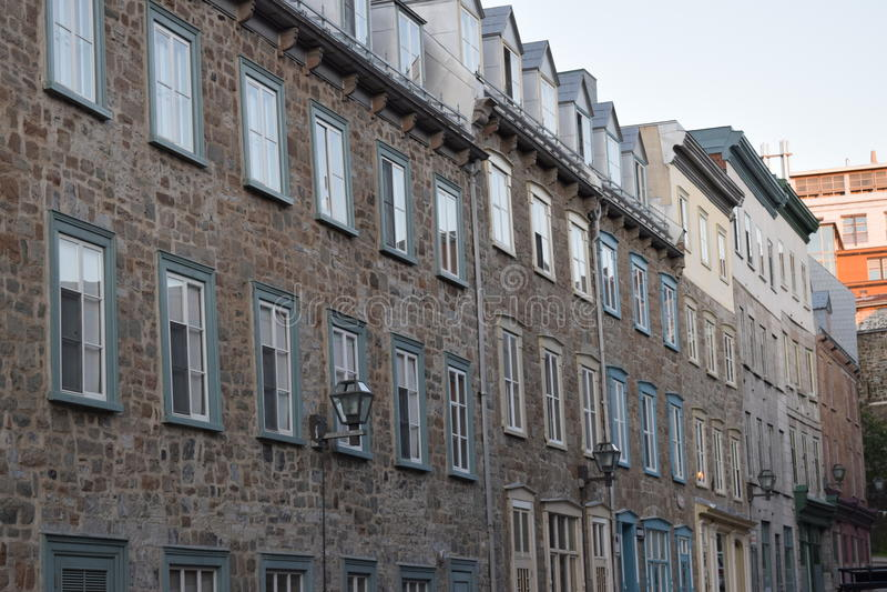 Casa de fileira velha imagem de stock