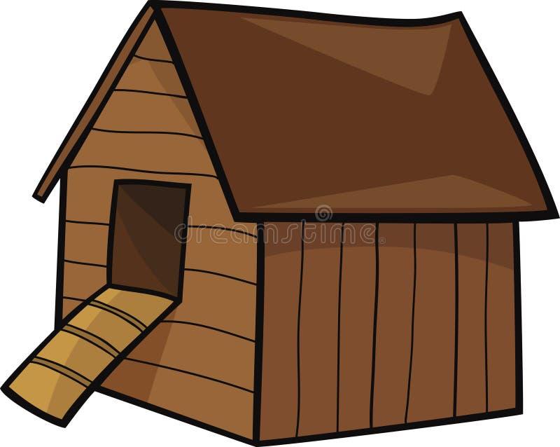 Casa de gallina stock de ilustración