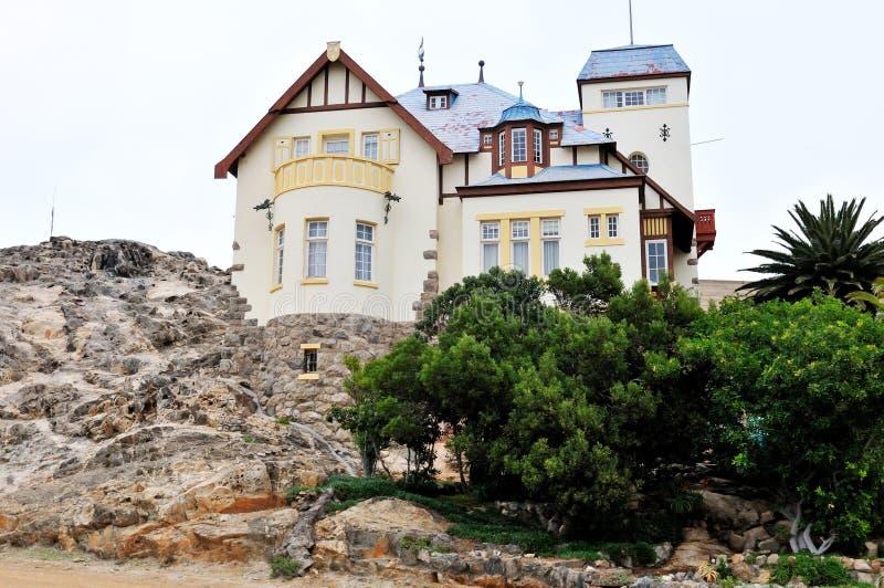 Casa de Goerke em Luderitz, Namíbia imagem de stock royalty free