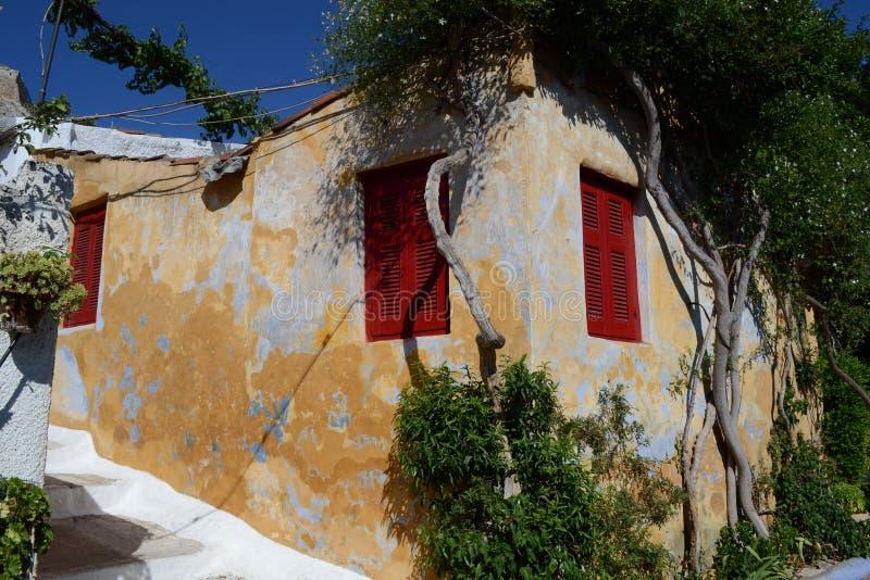 Casa de Grecia foto de archivo libre de regalías