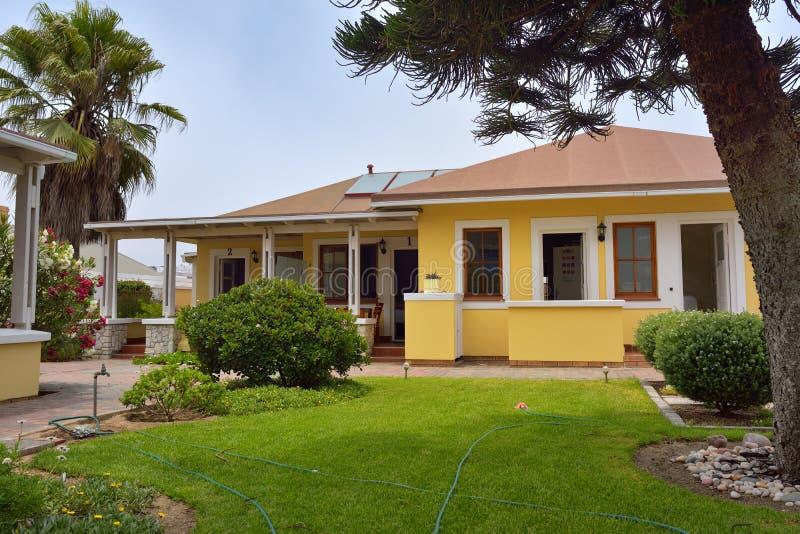 Casa de hóspedes da pedra angular, Swakopmund, Namíbia, África imagem de stock