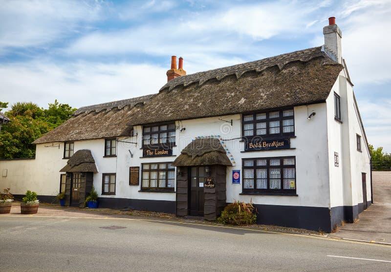 A casa de hóspedes de Londres em Lyme Regis Dorset ocidental inglaterra fotografia de stock