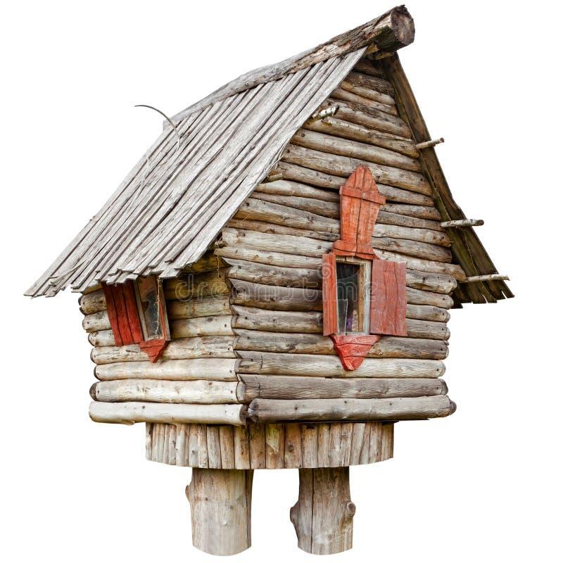 Casa de hadas de la bruja en las piernas de pollo foto de archivo libre de regalías