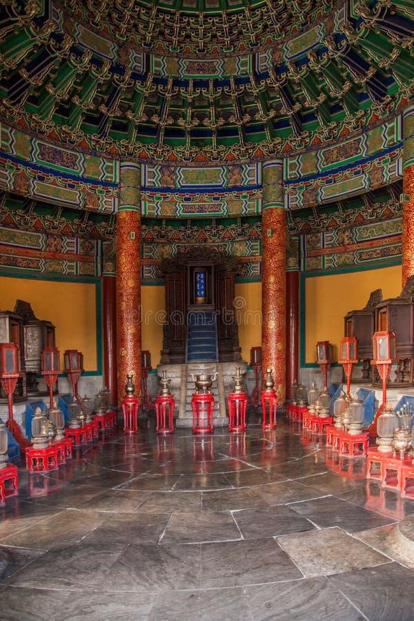 Casa de Huang Qiong Yu del parque de Pekín Tiantan dentro imagen de archivo