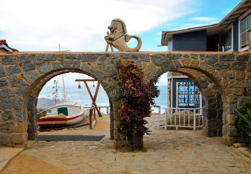 Casa de Isla Negra Pablo Nerudas foto de stock