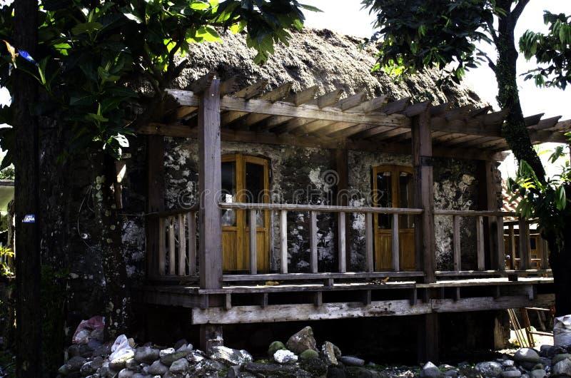 A casa de Ivatan arruina Batanes Filipinas foto de stock royalty free