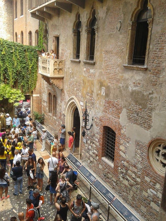 Casa de Juliet en Verona imagen de archivo