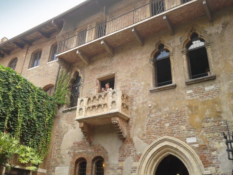 Casa de Juliet en Verona imagenes de archivo