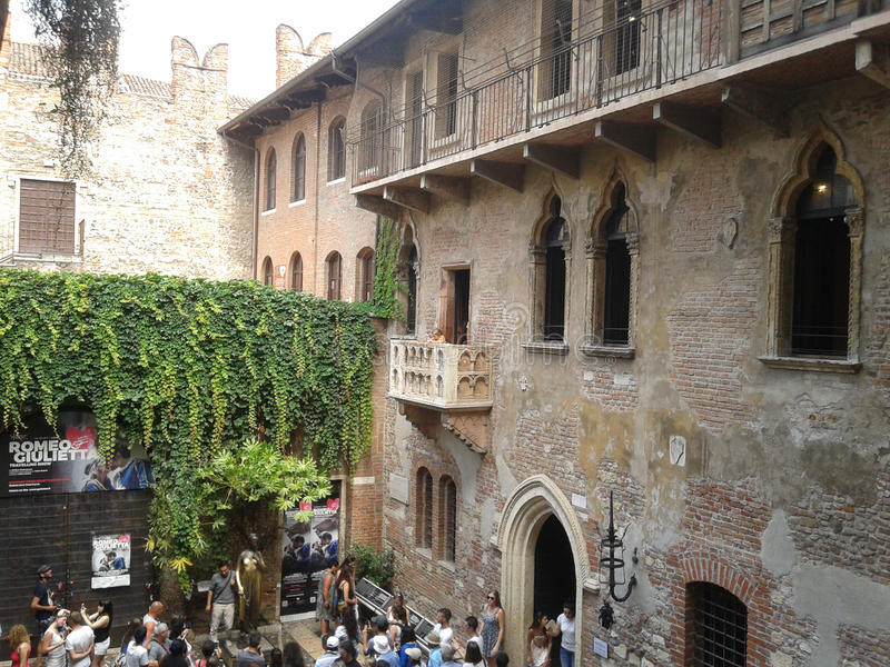 Casa de Juliet en Verona fotografía de archivo libre de regalías