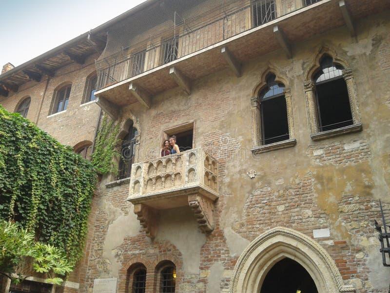 Casa de Juliet en Verona fotografía de archivo