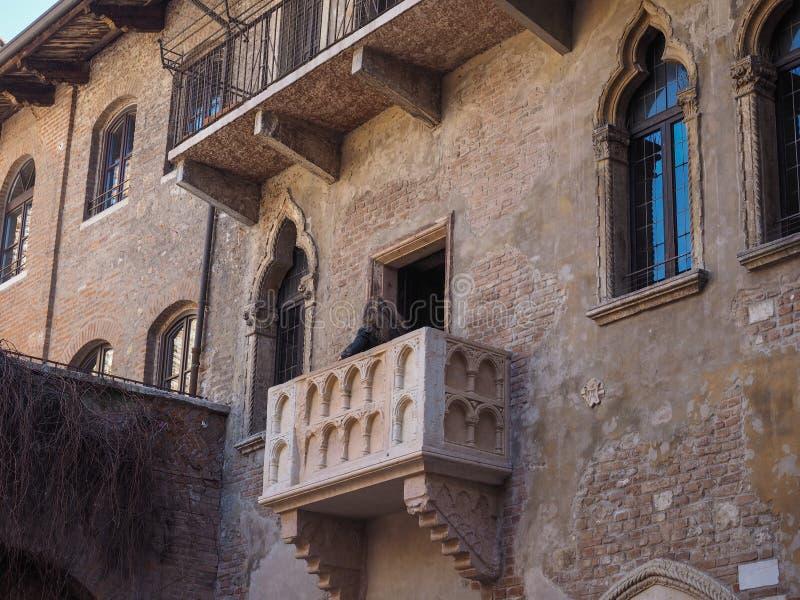 Casa de Juliet en Verona foto de archivo