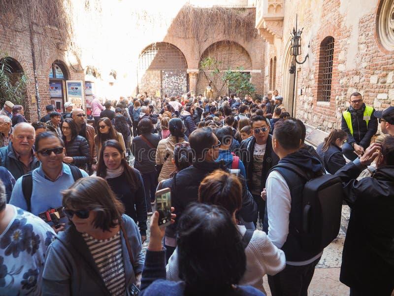 Casa de Juliet en Verona imágenes de archivo libres de regalías