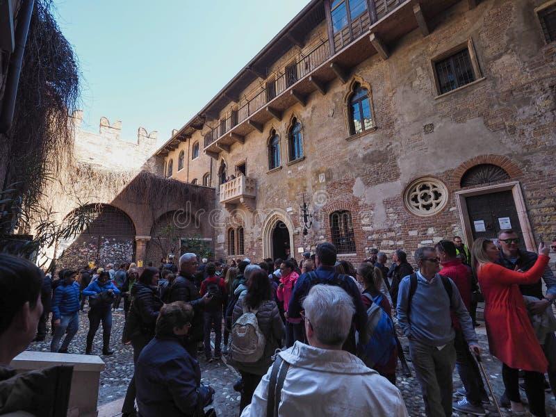 Casa de Juliet en Verona fotos de archivo