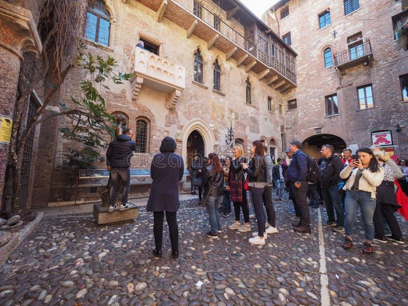 Casa de Juliet en Verona imagen de archivo libre de regalías