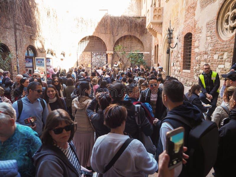 Casa de Juliet en Verona fotos de archivo libres de regalías