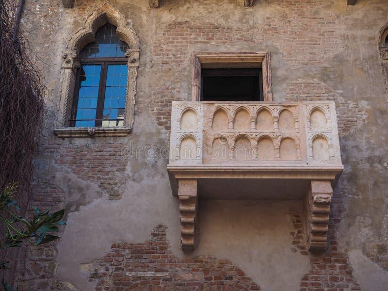 Casa de Juliet en Verona foto de archivo libre de regalías