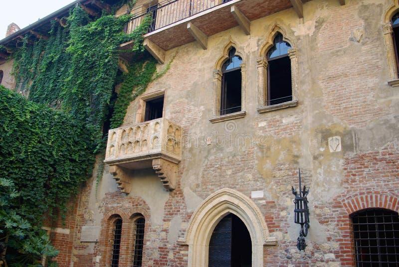 Casa de Juliet, Verona, Italy foto de stock
