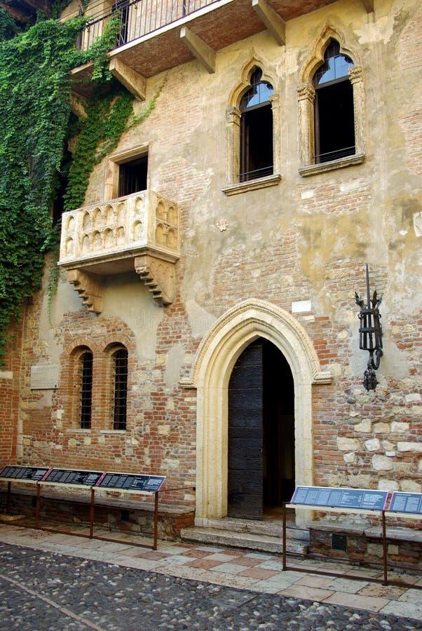 Casa de Juliet, Verona, Italy fotografia de stock royalty free