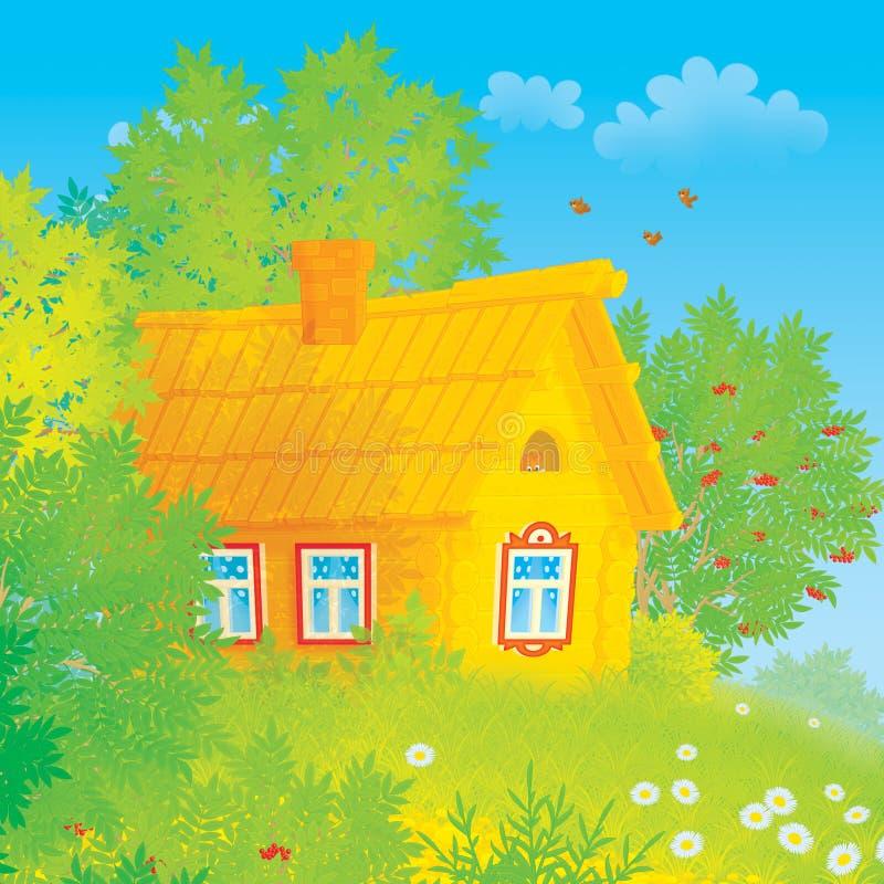 Casa de la aldea ilustración del vector