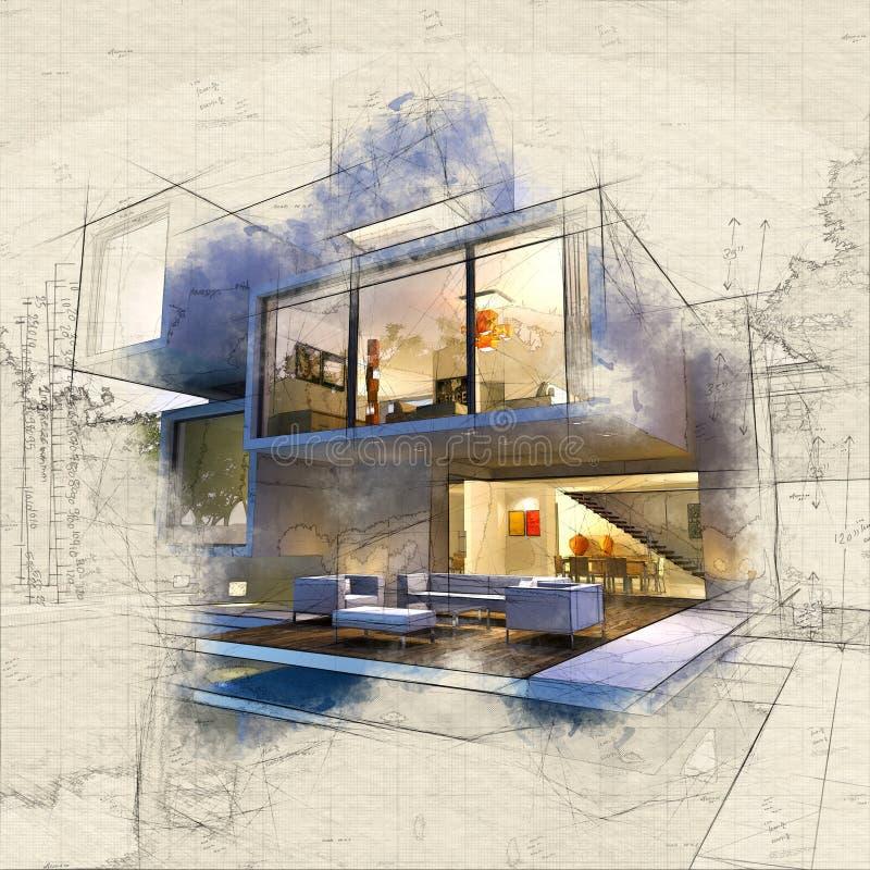 Casa de la arcón ilustración del vector