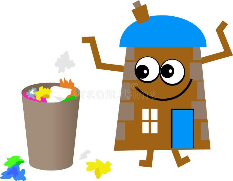 Casa de la basura stock de ilustración