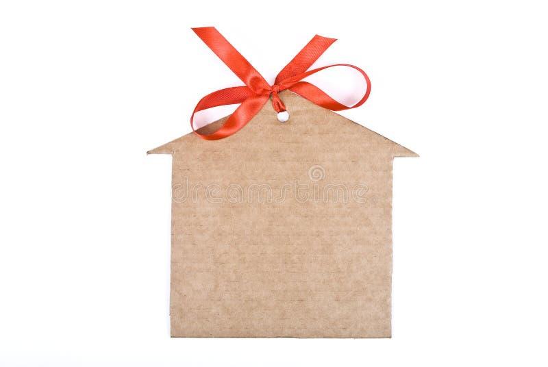 Casa de la cartulina fotografía de archivo libre de regalías