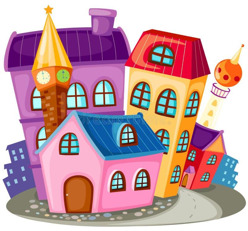 Casa de la ciudad ilustración del vector