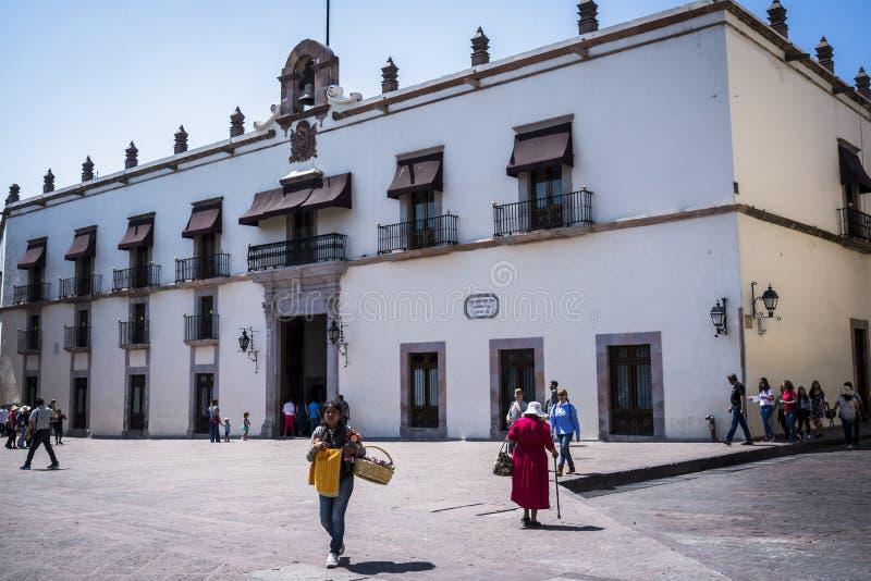 Casa DE La Corregidora, Queretaro-Stad, Queretaro-staat, Guanajuato, stad in Centraal Mexico stock fotografie