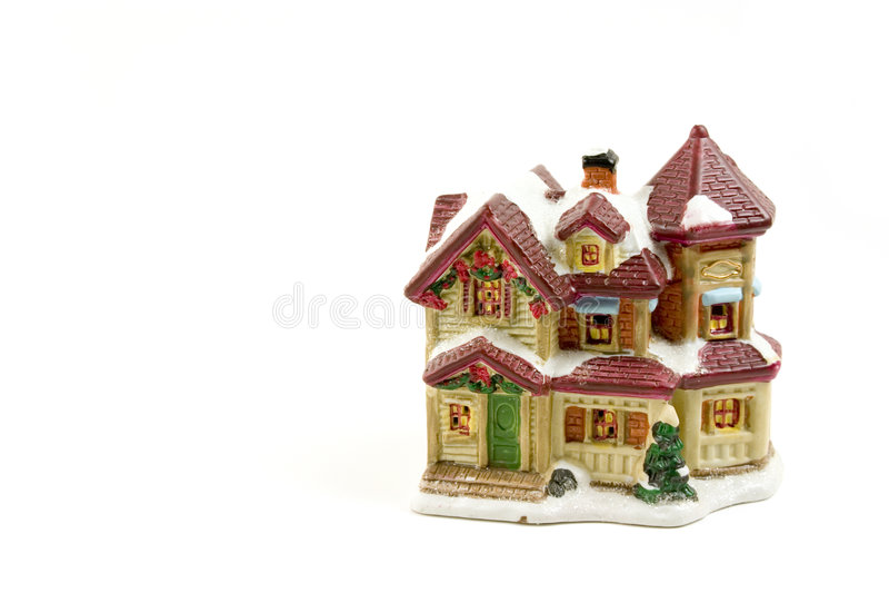 Casa de la decoración de la Navidad - 5 imagenes de archivo
