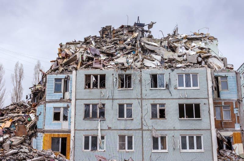 Casa de la demolición fotos de archivo libres de regalías
