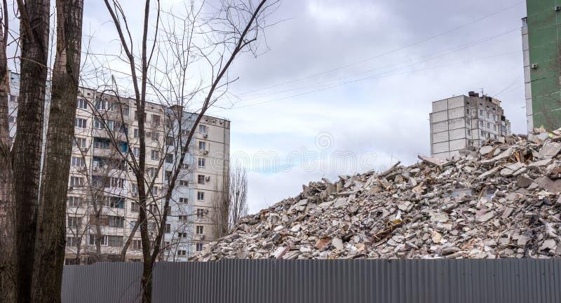 Casa de la demolición fotografía de archivo libre de regalías