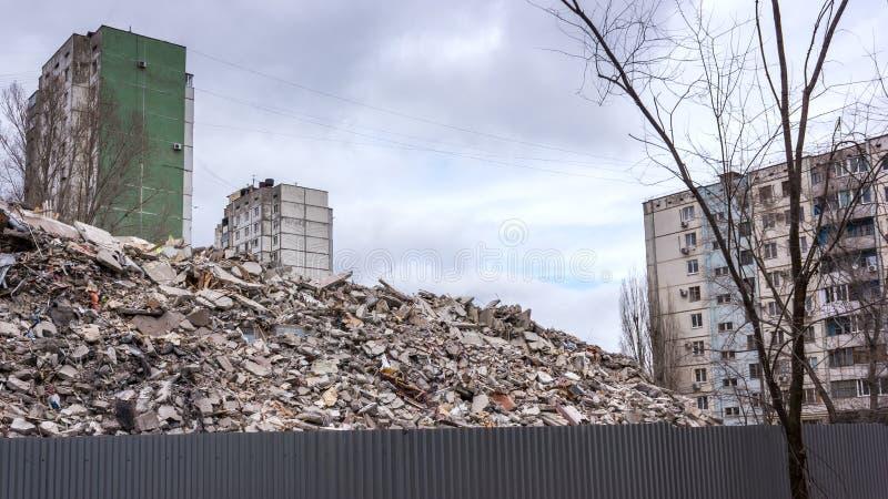 Casa de la demolición fotografía de archivo