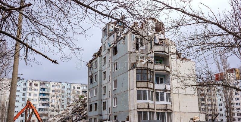 Casa de la demolición fotos de archivo