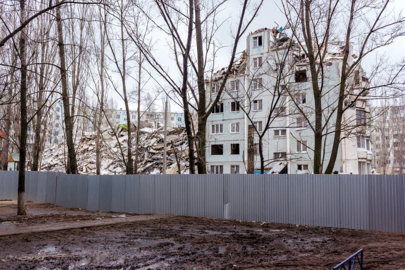 Casa de la demolición imagen de archivo libre de regalías