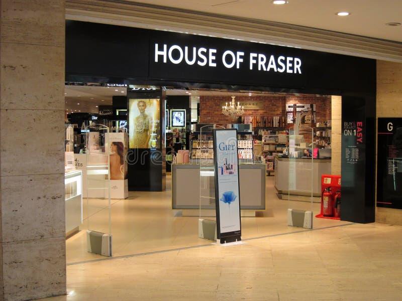 Casa de la entrada de la tienda de Fraser. foto de archivo