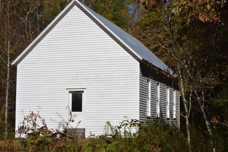 Casa de la escuela de país fotografía de archivo