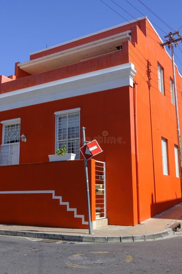Casa de la esquina BO Kaap Cape Town fotos de archivo