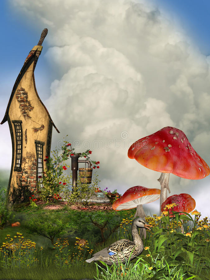 Casa de la fantasía ilustración del vector